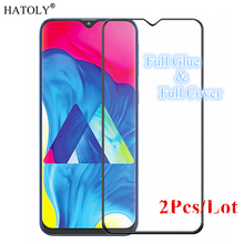 цена на 2Pcs For Samsung Galaxy M10 Glass Tempered Glass for Samsung Galaxy M10 Film Full Glue Screen Protector for Samsung Galaxy M10
