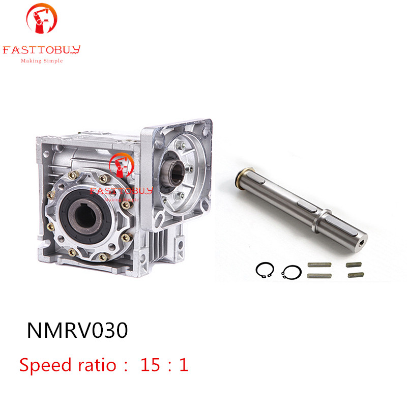 Cheap NMRV030 Worm Gearbox Speed Reducer Ratio 15:1