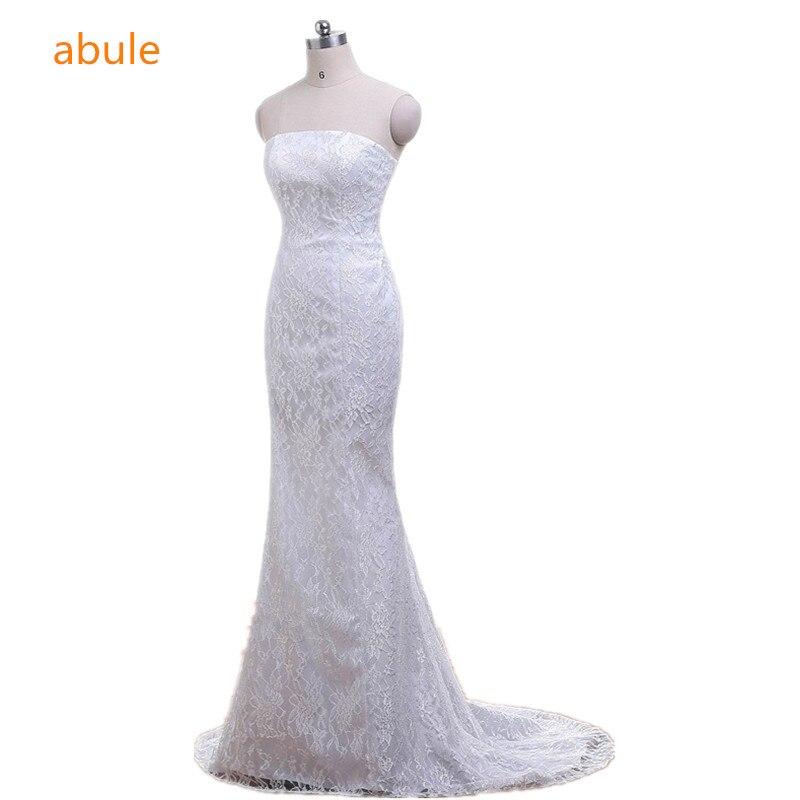 Mermaid esküvői ruhák 2018 nyári szexi elegáns szép csipke strand virágok vestidos de noiva esküvői ruhák valódi poto 100%