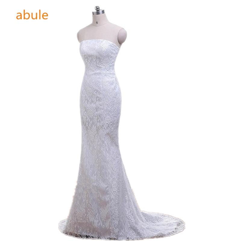 abule Wedding Dresses 2018 mermaid summer Sexy Elegant beautiful lace up beach flowers vestidos de noiva wedding gowns