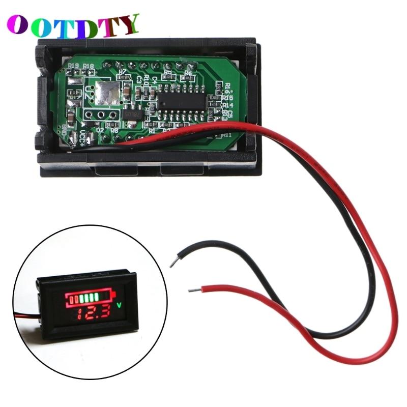 OOTDTY 12V Lead-Acid Battery Status Capacity LED Display Indicator Digital Voltmeter Tester G07