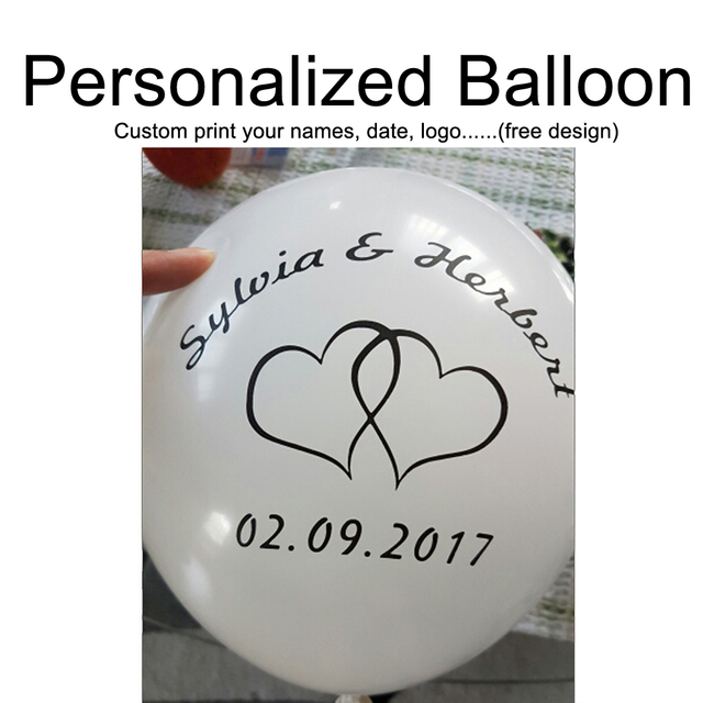Custom Your Own Party Balloons Personalized Balloon Print Name Logo For Wedding Birthday Baby Shower