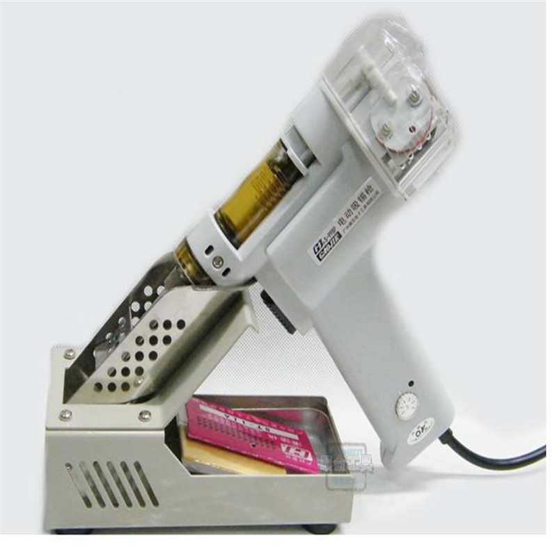 Automatic suction tin Electric absorb gun  S-998P Electric Vacuum Double-Pump Solder Sucker Desoldering Gun 110/220V 100W free shipping desoldering gun 842a 220v 30w suction tin soldering iron 2 in 1 electric suction tin tip tong acupuncture