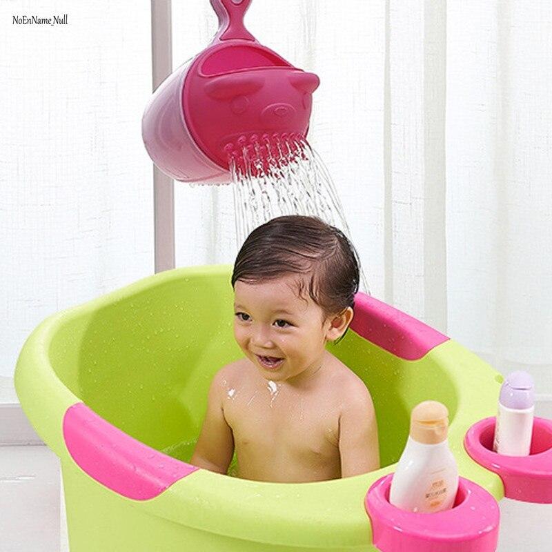 Cartoon Baby Bath Cap Kids Washing Hair Shampoo Cartoon Cup Children Shower Spoons Child Washing Hair Cup Kids bath tool