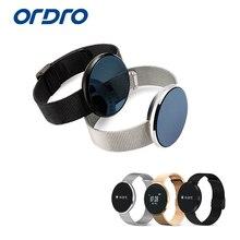 Ordro смарт-браслет S15 часы монитор сердечного ритма Bluetooth Шагомер социальные медиа уведомления фитнес Смарт напоминание