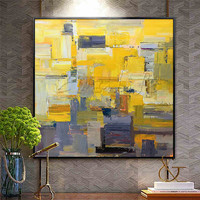 Canvas oil paintings for home decor wall pictures for living room Hand painted modern abstract color cuadros quadro wall Art