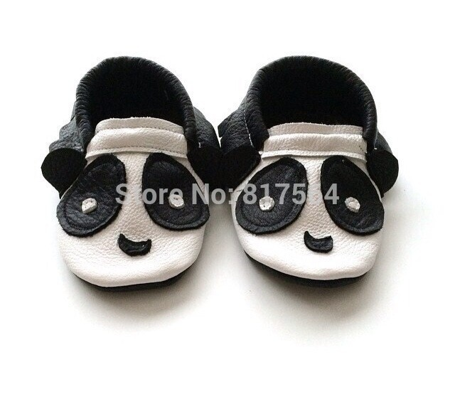 New fashion cute panda fringe Genuine Leather Baby Moccasins soft animals Baby Shoes First Walker Chaussure Bebe newborn shoes