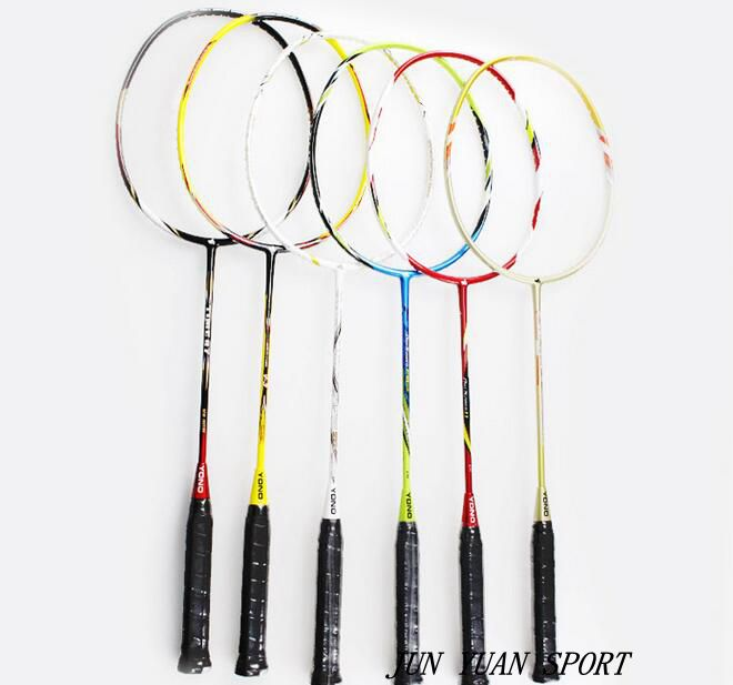 ФОТО YONO 4U High quality badminton racket 28Lbs100% carbon fibre high quality with T-Joint Send racket package,Free shipping!