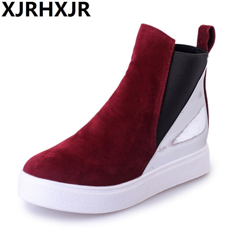 Shoes Woman Spring Autumn Fashion Platform Ankle Boots Ladies Casual Shoes Flats Heel Round Toe High Top Casual Shoe Martin Boot unisex boots men canvas shoes women ankle boot spring outdoortravel mountaineering camping casual shoe breathable lovers boots