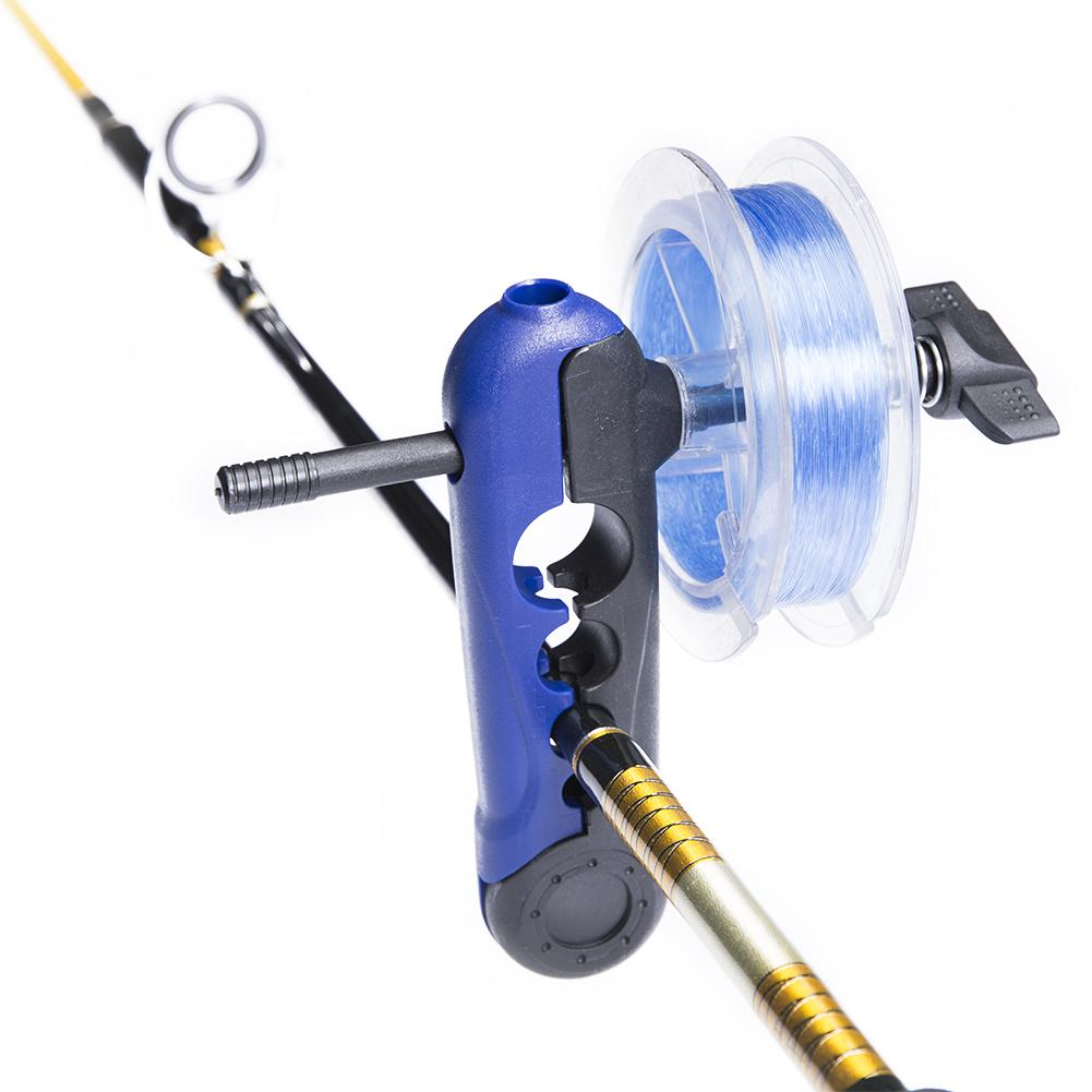 Portable Universal Fishing Line Spooler Adjustable Fishing Rod Spool Reel Bobbin Fishing Reel Winder Simple Wire Feeder
