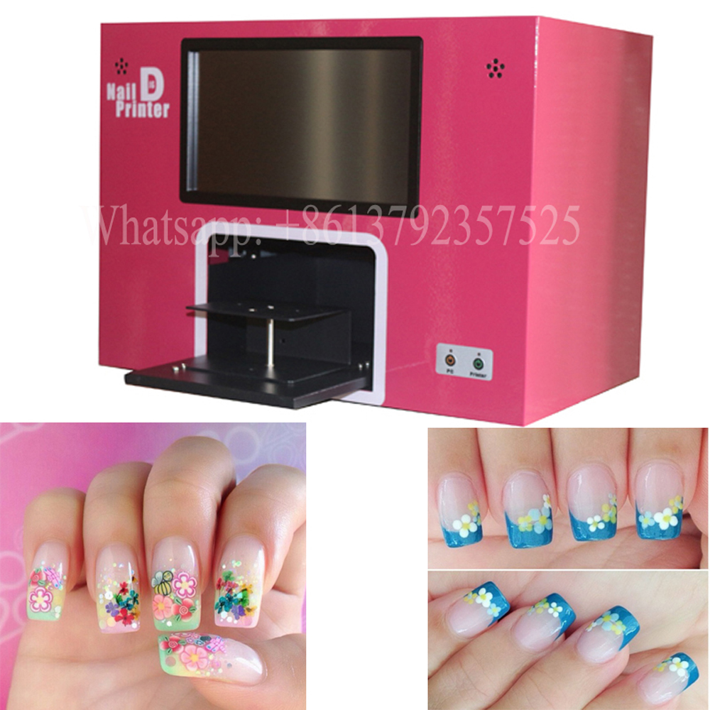 CE FREE SHIPPING digital nail machine computer and touch screen nail and flower printer machine free shipping nail printing machine with ce