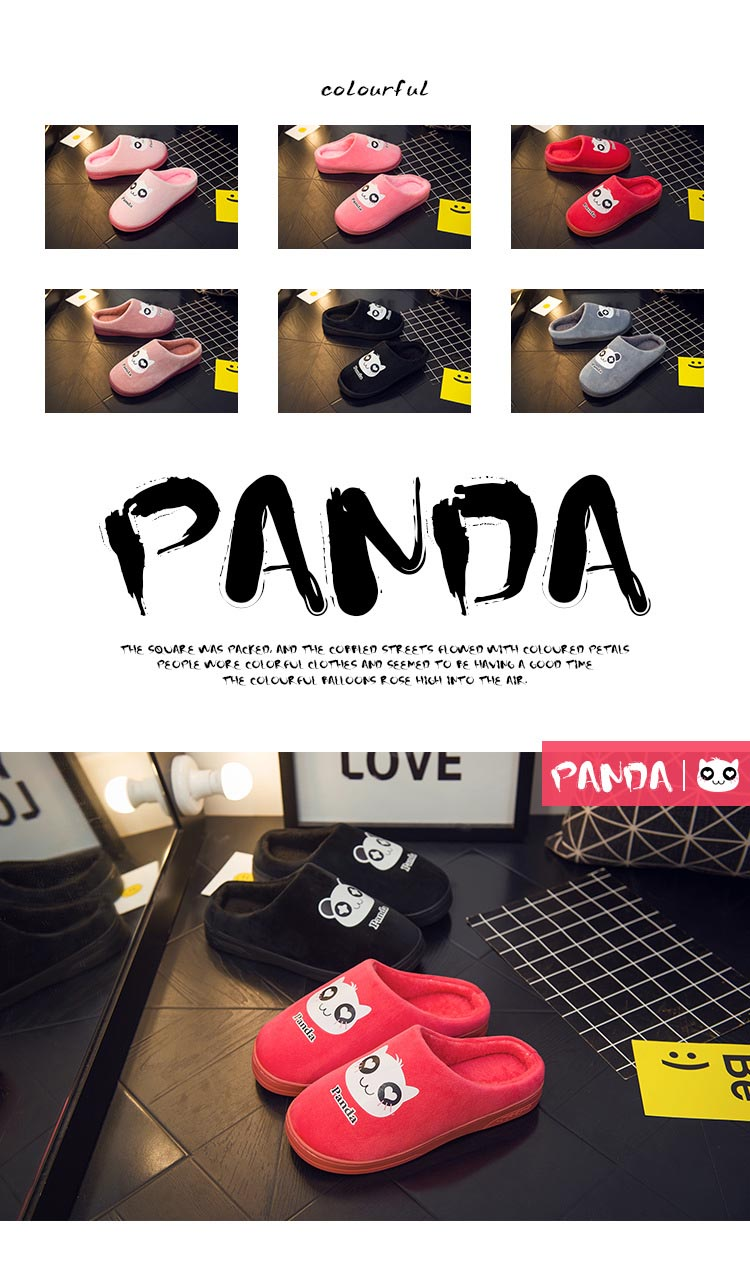20ae2456b 2018 Bodensee Cute Panda Eyes Women Cute Slippers Lovely Cartoon Indoor  Home Soft Shoes Women Slippers Ladies Flip Flop S0068.  20181212161836 A0  A1 ...