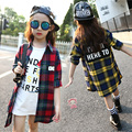 4 5 6 8 9 10 11 12 13 Years Girls Plaid Shirt Long Sleeve Autumn Blouse For Girls Children's Clothing