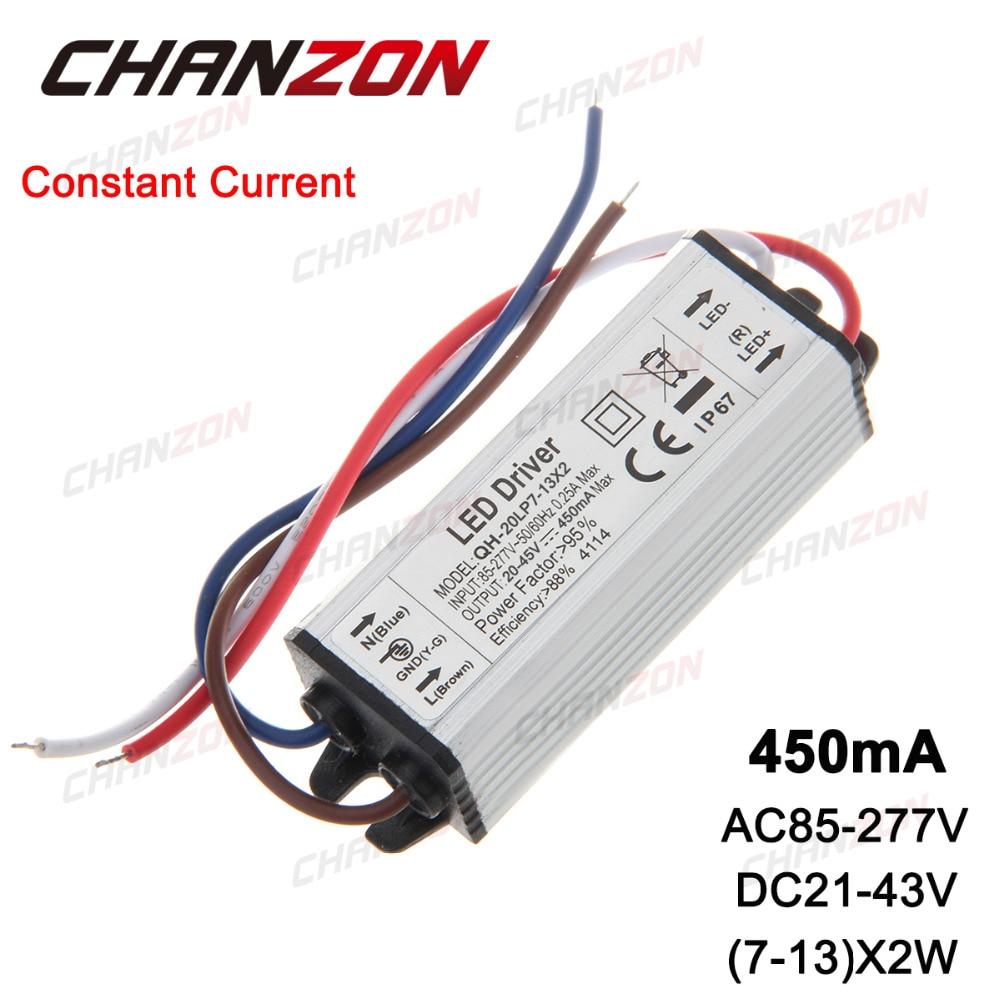 Constant Current LED Driver 7-13x2W 450mA 18W 20W 24W 450 mA IP67 Waterproof Lamp Light COB Power Supply Lighting Transformer