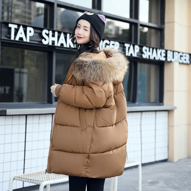 Make the new easing han edition dress down cotton-padded jacket is natural yards hooded cotton-padded clothes coat 2015the new women s clothing han edition cotton padded clothes coat long big yards more loose tooling cotton padded jacket