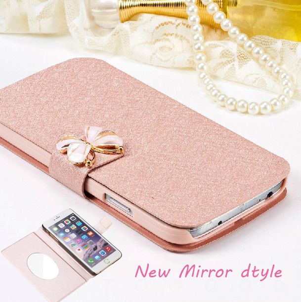 Luxury Magnetic Mirror Case For Samsung Galaxy A5 2018 Flip Cover PU Leather Stand Phone Bag Case For Samsung A5 2018 A530 A530F