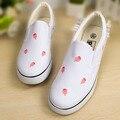 2016 mujeres de Los Planos zapatos de Lona Ocio Mujer Nuevo lienzo zapatos de Graffiti Zapatos pintados a Mano