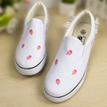2016  women Flats Canvas shoes Leisure Woman canvas shoes New Graffiti Hand-painted Shoes