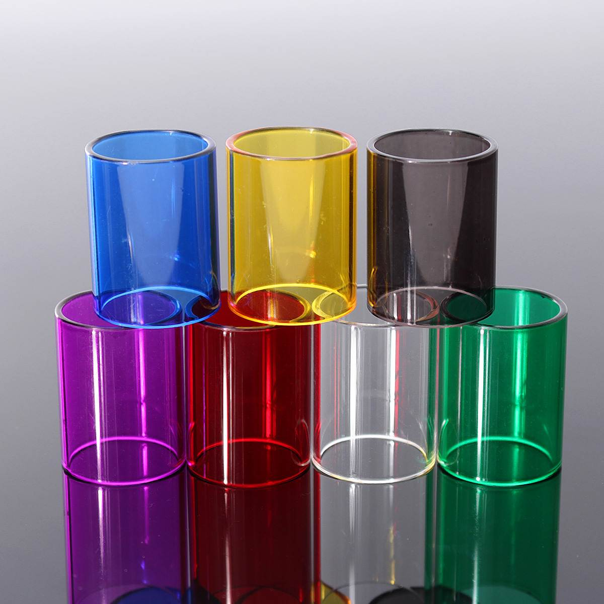 7abf392053 22mm Replacement Transparent Pyrex Glass Tube Sleeve For Joyetech Ultimo  Tank Transparent Black Purple Yellow Red