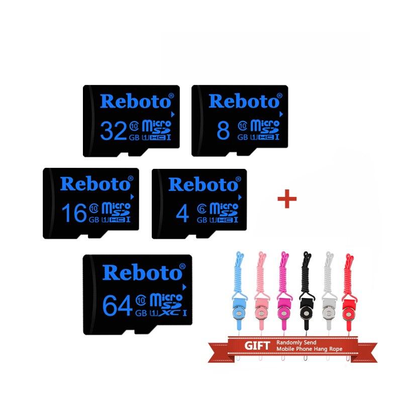 Reboto Black Memory card 64G 32GB 16GB 8GB 4GB Micro SD card