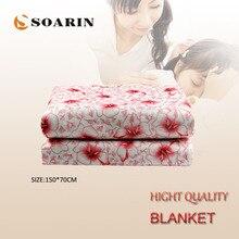 SOARIN электрическое одеяло, электрическое нагревательное одеяло 220 В, одеяло с подогревом, плюшевый матрас
