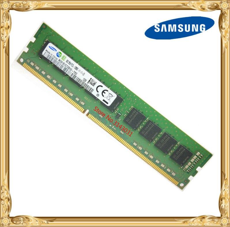 Samsung DDR3 8 GB serveur mémoire 1600 MHz Pur ECC UDIMM 2RX8 8G PC3L-12800E poste de travail RAM 12800 Sans Tampon