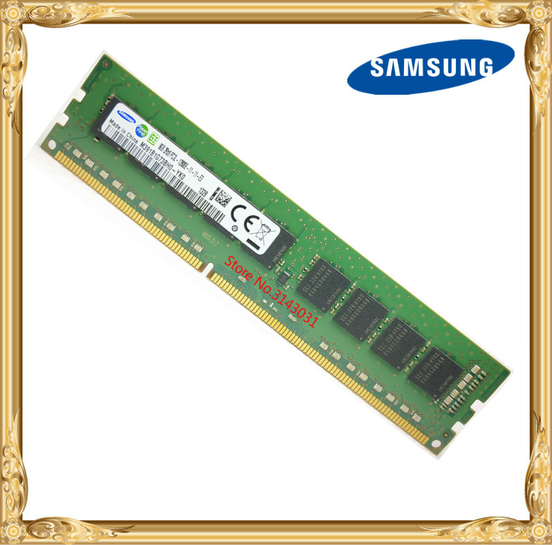Samsung <font><b>DDR3</b></font> <font><b>8GB</b></font> server memory 1600MHz Pure <font><b>ECC</b></font> UDIMM 2RX8 8G PC3L-12800E workstation RAM 12800 Unbuffered image