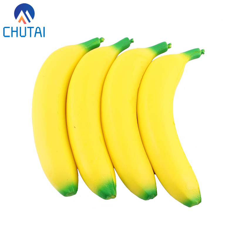Cute Banana Squishy Super Slow Rising Jumbo Simulation Fruit Phone Straps Soft Cream Scented Bread Cake Kid Toy Gift 19*4CM