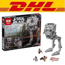 2016 LEPIN 05052 1068 Stücke Star Wars Die Kraft Weckt AT-ST Walke Modellbau Kit Minifigur Blöcken Ziegel Kompatibel Spielzeug 75153