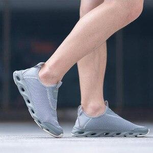 Image 4 - Youpin zaofeng נעלי ספורט קל משקל לאוורר אלסטי סריגה לנשימה מרענן קריק החלקה ספורט לגבר אישה