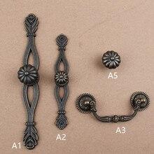 96mm America retro dristress bronze kitchen cabinet drawer knobs handles antique brass dresser door handles rings pull backplane
