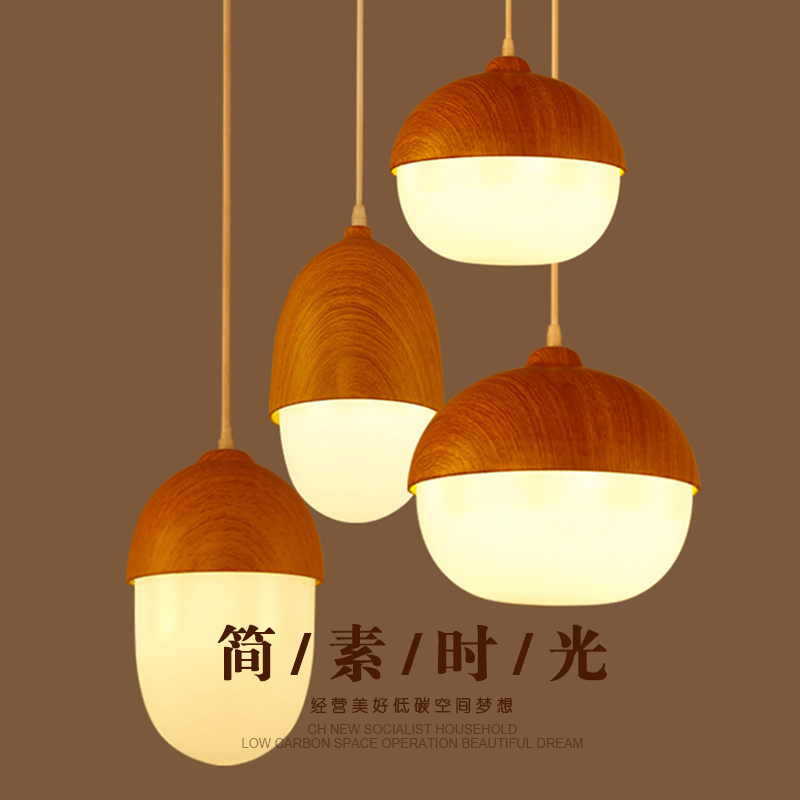 Creative Japanese - style wooden chandeliers Chinese restaurant lights living room lights bar bar solid wood LED lights tatami chinese style wooden 1 2 3 heads lamps chinese restaurant new classical restaurant chandelier wooden sheepskin chandelier