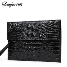New arrival fashion genuine leather men Day clutches bags high quality cowhide men wallet business casual men bag