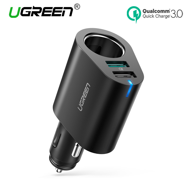 Ugreen Auto Ladegerät Adapter 60 watt Dual USB Qucik 3,0 Ladung USB Ladegerät für iPhone X 8 Samsung Galaxy S9 s8 LG V20 USB Auto Ladegerät