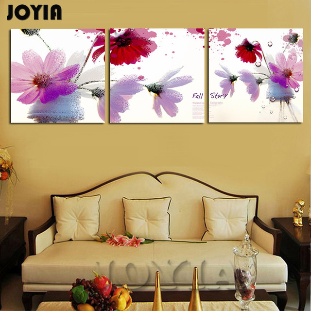 Bedroom Wall Decorative Painting Canvas Prints Modern Flower ...