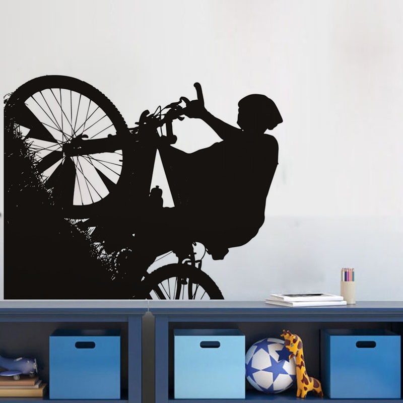 Mountain Biker Vinyl Wall Sticker Home Decor For Living Room Waterproof Removable Wall Decals