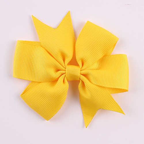 New Arrival 40 Pcs Ribbon Hair Bowknots Clips Kids Girl Hairgrip Headware Hair Accessories