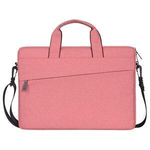 Image 2 - 여자 라이너 슬리브 노트북 가방 케이스 맥북 에어 프로 레티 나 13 14 15.6 인치 노트북 노트북 어깨 스트랩 컴퓨터 핸드 가방