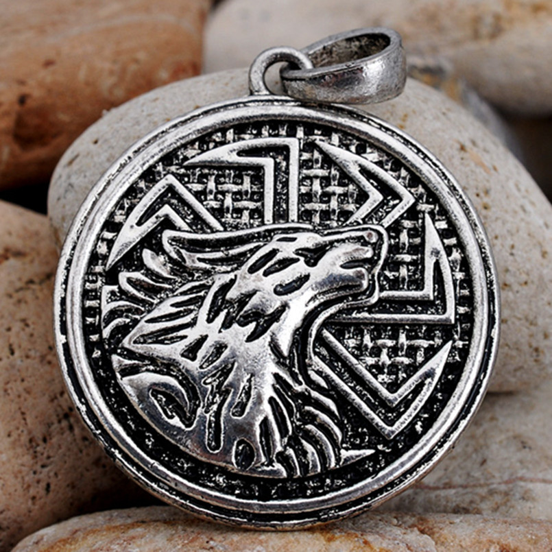 Aliexpress Com Buy 2 In 1 Constellations Pendant Amulet: Aliexpress.com : Buy Slavic Giant Wolf Kolovrat Pendant