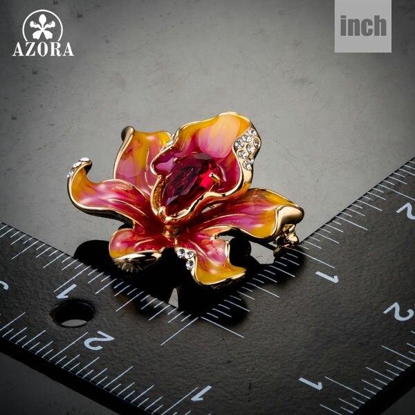AZORA Χρυσό χρώμα εμφάνιση λουλουδιών - Κοσμήματα μόδας - Φωτογραφία 3