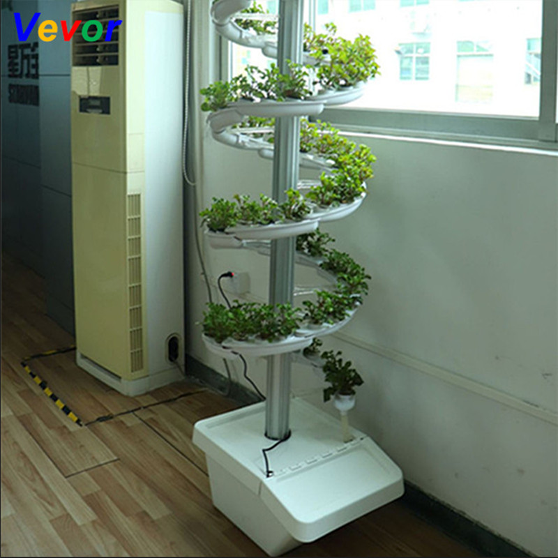 Family Vertical Spiral Plant Grow Hydroponic Tower Indoor
