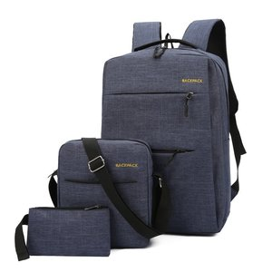 Image 3 - Mochila masculina backpack set 3 Pcs/set male Shoulder Bag Teenagers Man Student Book Bag erkek sırt çantası para adolescentes