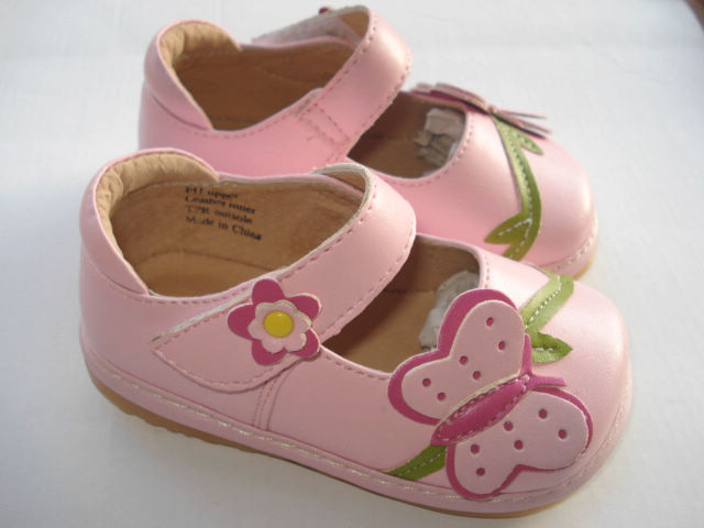 spring baby girl squeaky shoes pink butterfly soft sole toddler girl shoes squeaky shoes clearance sale in sandals from mother u0026 kids on