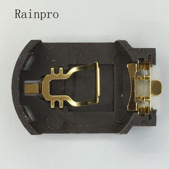 Rainpro 10 cái/lốc BS 8 CR2032 CR2025 vàng mạ nút pin chủ 2032 Hộp Pin Ổ Cắm Trường Hợp