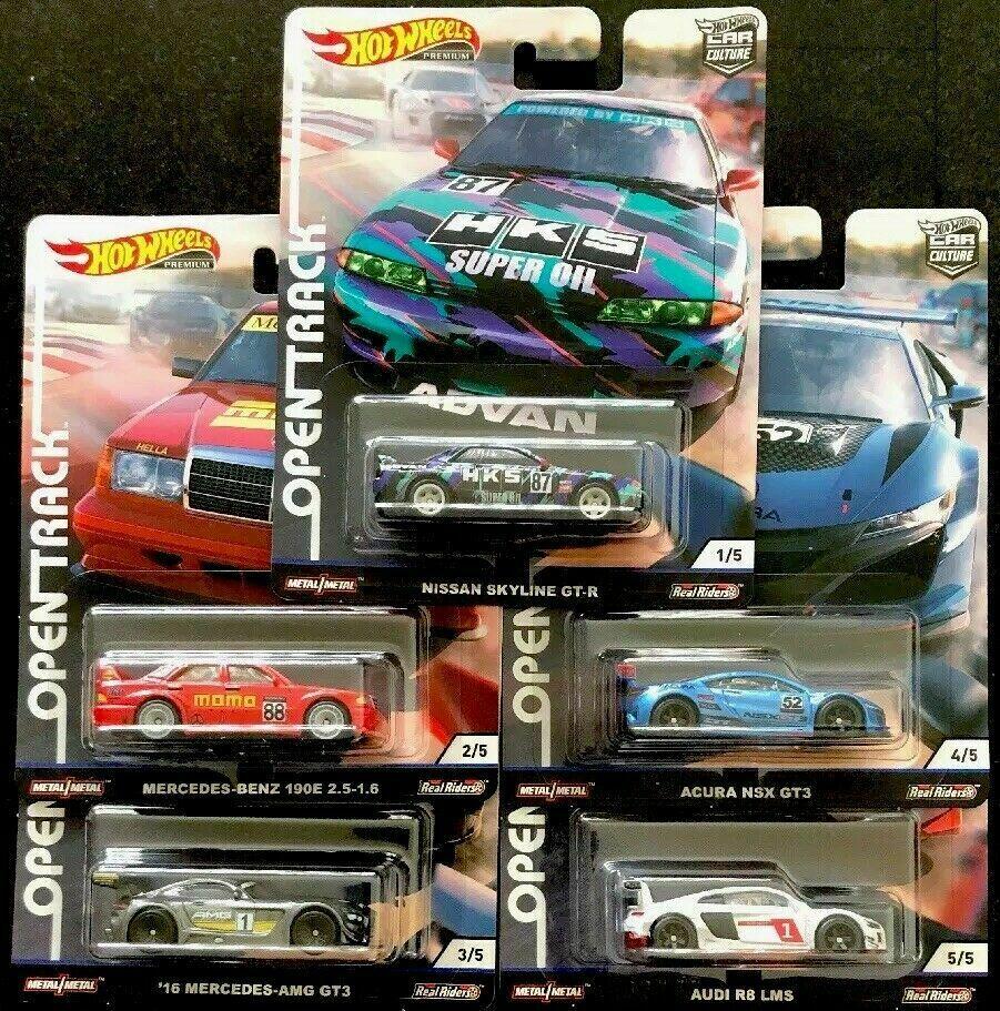 Hot Wheels Car 1:64 Car Culture Open Track NISSAN MERCEDES AUDI AUCRA Collector Edition Metal Diecast Model Car Kids Toys