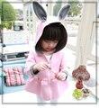 Дети 2017 новая весна пальто девушки и дети воздушный слой хлопка пальто кроличьи уши