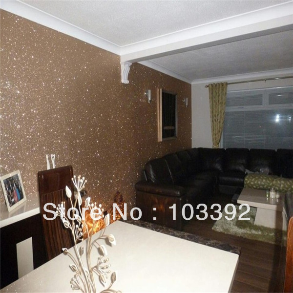 Silver Glitter Wallpaper For Wall Brand With Funky Style S1001