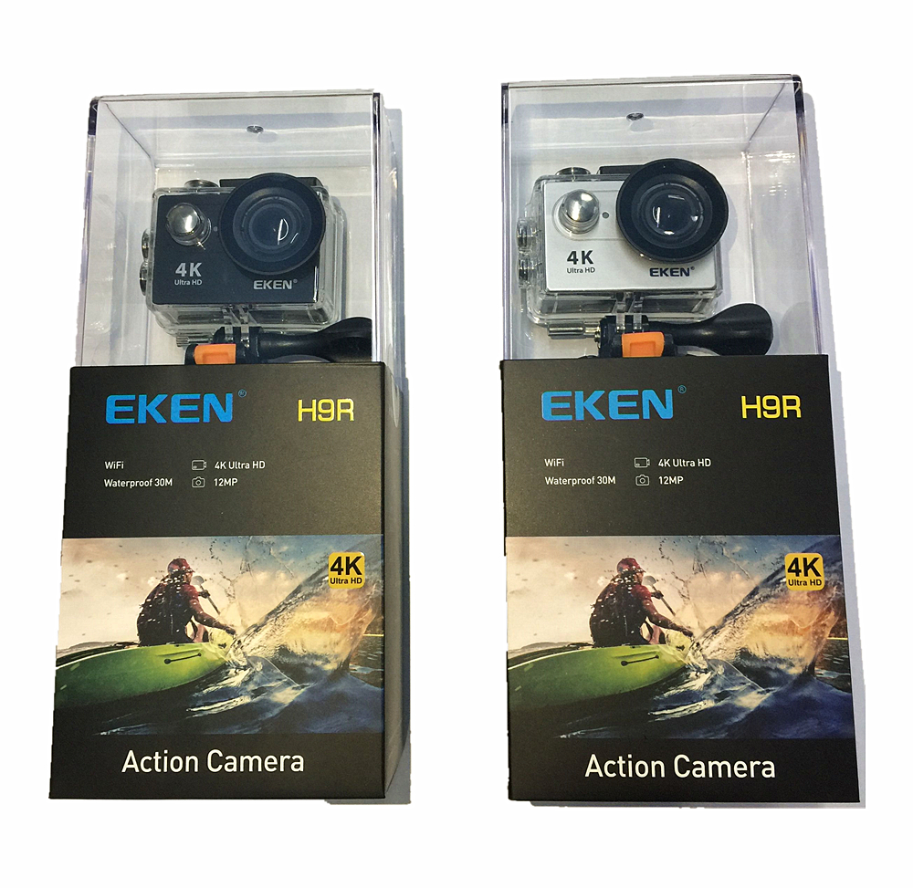 EKEN H9 H9R Originale macchina fotografica di Azione Ultra HD 4 k 25fps 1080 p 60fps WiFi 2 170D go Mini subacquea pro impermeabile del Casco di Sport cam