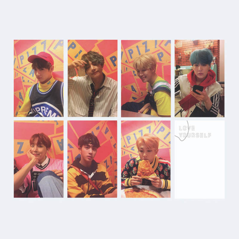 Kpop Bts Bangtan Boys Army Love Yourself Album Lomo Cards K-pop New Fashion Self Made Paper Photo Card Hd Photocard To Reduce Body Weight And Prolong Life Jewelry & Accessories