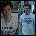 Shameless T-shirt LIP Fuck You Fucking Letter Tops Men's Clothing Cotton T Shirt Short Sleeve Jeremy Allen White Casual Men Tees
